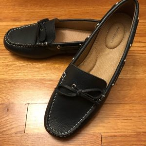 Lands End navy loafers
